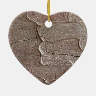 Macro photo of pine bark ceramic ornament