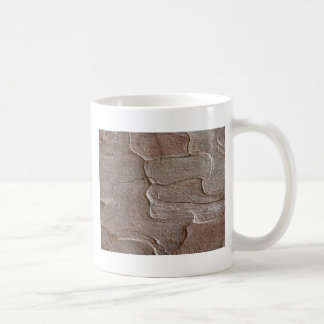 Macro photo of pine bark coffee mug