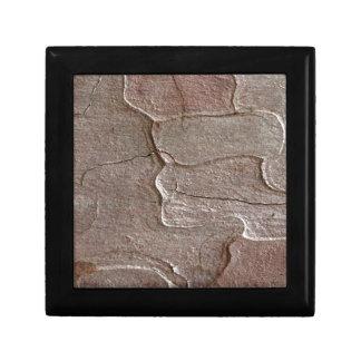 Macro photo of pine bark gift box