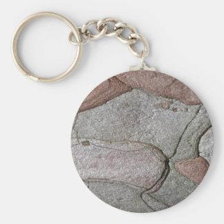 Macro photo of pine bark key ring