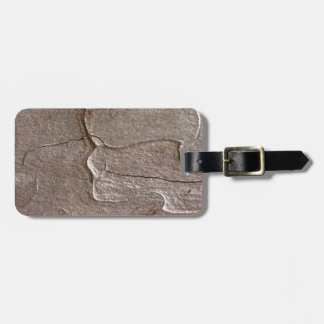 Macro photo of pine bark luggage tag