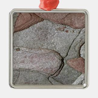 Macro photo of pine bark metal ornament