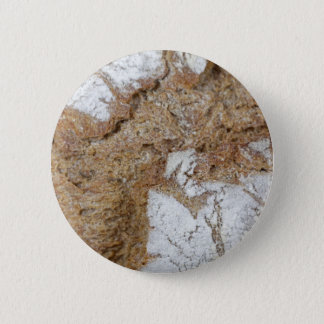 Macro photo of the surface of brown bread 6 cm round badge
