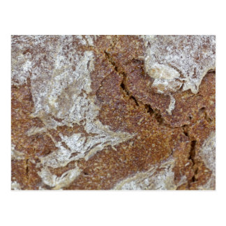 Macro photo of the surface of brown bread from Ger Postcard