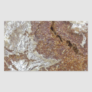 Macro photo of the surface of brown bread from Ger Rectangular Sticker