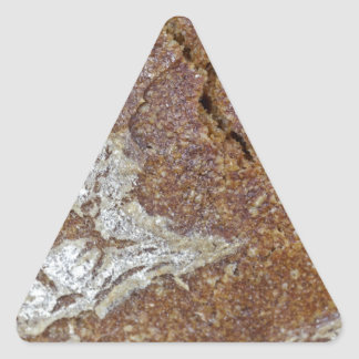 Macro photo of the surface of brown bread from Ger Triangle Sticker