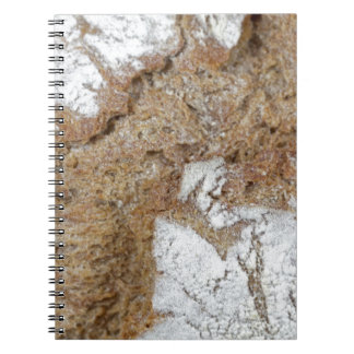 Macro photo of the surface of brown bread notebooks