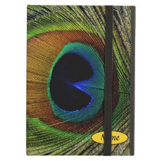 Macro Photo Real Peacock Feather On iPad iPad Air Case
