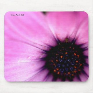 Macro Pink Flower Mouse Pad
