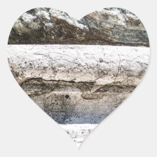 Macro Rock Heart Sticker