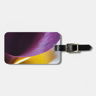 Macro shot of callas luggage tag