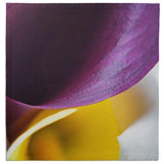 Macro shot of callas napkin