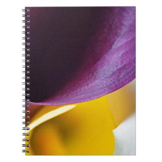 Macro shot of callas spiral notebook
