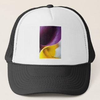 Macro shot of callas trucker hat