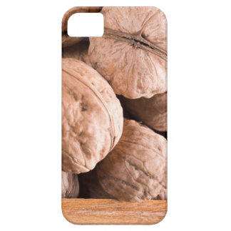 Macro view of a group of old walnuts iPhone 5 case