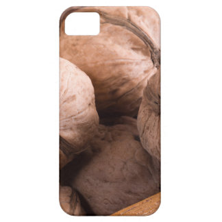 Macro view of a group of walnuts iPhone 5 cover