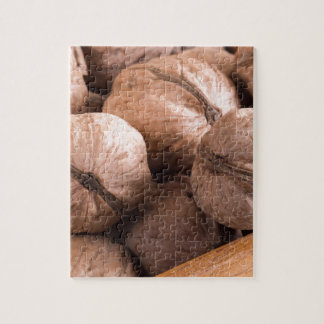 Macro view of a group of walnuts jigsaw puzzle