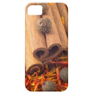 Macro view of the cinnamone, peppercorn and saffro case for the iPhone 5