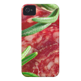 Macro view of the cut pieces of sausage Case-Mate iPhone 4 cases