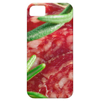 Macro view of the cut pieces of sausage iPhone 5 cover