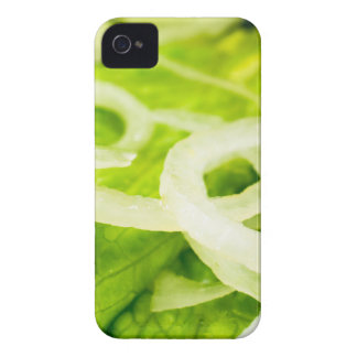 Macro view of the leaves of lettuce and onion ring iPhone 4 Case-Mate case