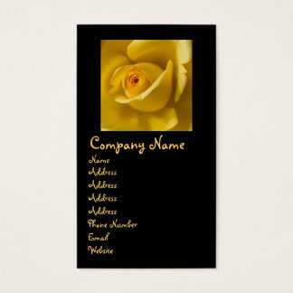 Macro Yellow Rose Business Card