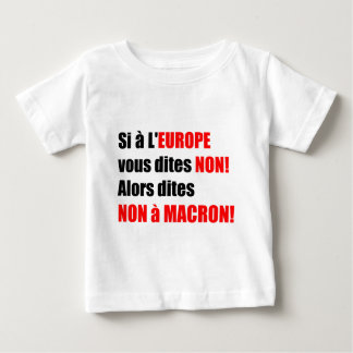 MACRON = Mondialisation Baby T-Shirt