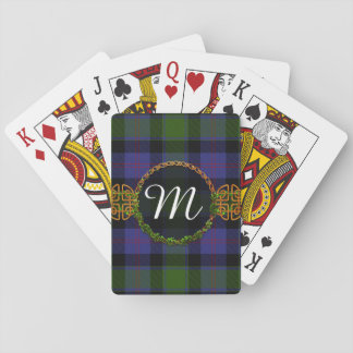 MacTaggart Tartan And Monogram Playing Cards