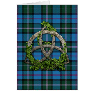 MacThomas Tartan And Celtic Trinity Knot Card