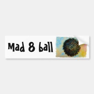 mad 8 ball car bumper sticker