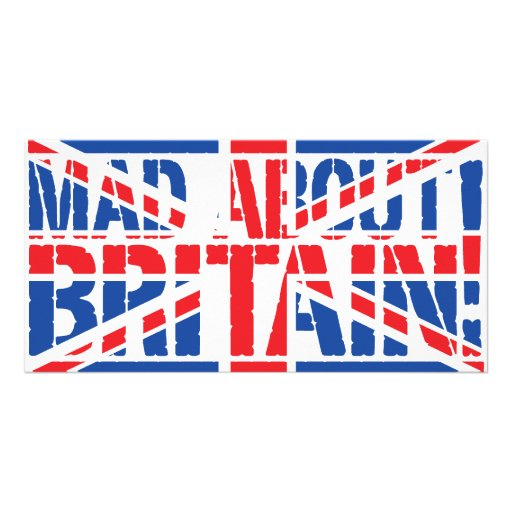 Mad About Britain Personalized Photo Card