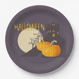 Mad About Halloween Halloween Party Paper Plates 9 Inch Paper Plate