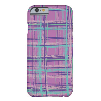 Mad About Plaid Pink/Aqua Barely There iPhone 6 Case