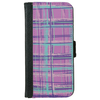 Mad About Plaid Pink/Aqua iPhone 6 Wallet Case