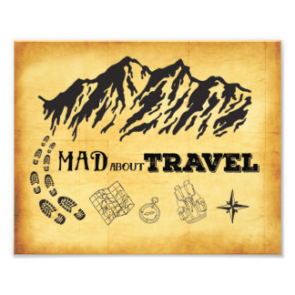 Mad about travel retro vintage Photo Print