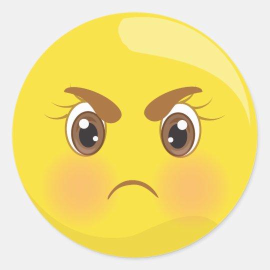 mad angry emoji face stickers zazzle com au