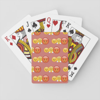 Mad/Angry Emoji Pattern Playing Cards