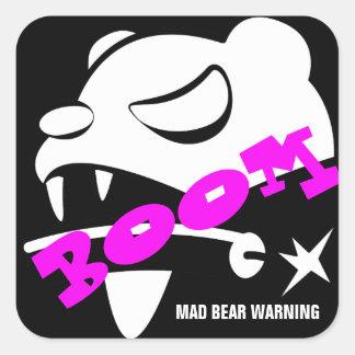 Mad Bear Square Sticker
