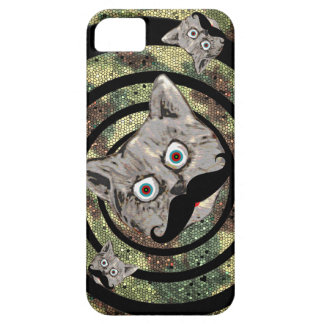mad camouflaged cat iPhone 5 covers
