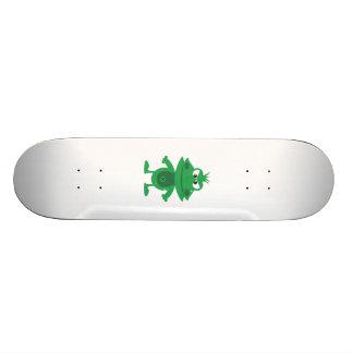 Mad Cartoon Frog Skate Board Deck