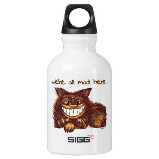 Mad Cat by Aleta Water Bottle