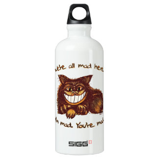 Mad Cat Rap by Aleta Water Bottle