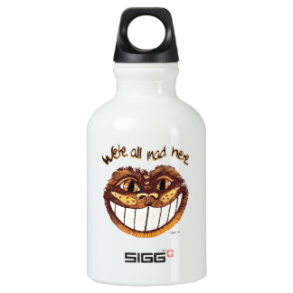 Mad Cat Smile by Aleta Water Bottle