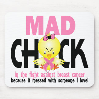 Mad Chick In The Fight Breast Cancer Mousepad