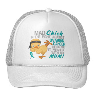 Mad Chick Messed With Mum 3 Ovarian Cancer Mesh Hats