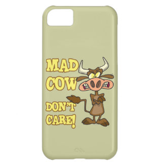 MAD COW DONT CARE FUNNY ANIMAL HUMOR iPhone 5C CASE