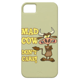 MAD COW DONT CARE FUNNY ANIMAL HUMOR iPhone 5 COVERS