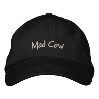 Mad Cow Funny Cap / Hat Embroidered Baseball Caps