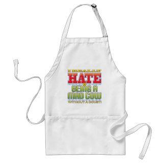 Mad Cow Hate Face Apron