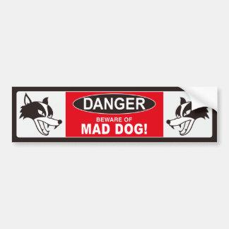 MAD DOG bumper sticker 001 black